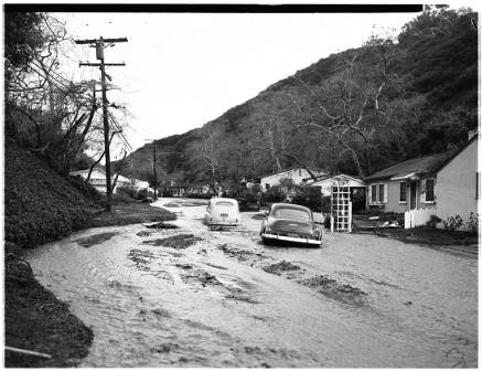 Beverly Glen Flooding - 1952