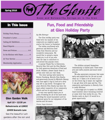 The Glenite - Spring 2016!