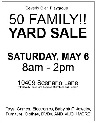 Playgroup Yard Sale 2017